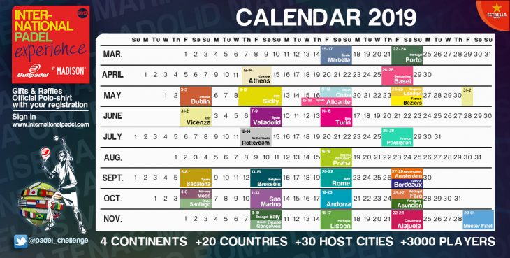 Interit Calendario.Calendario International Padel Experience By Madison